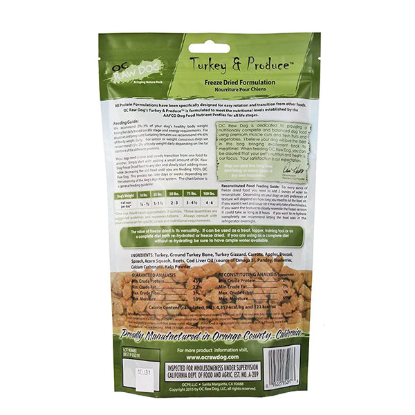 Meaty Rox Turkey & Produce Freeze Dried Dog Food Topper