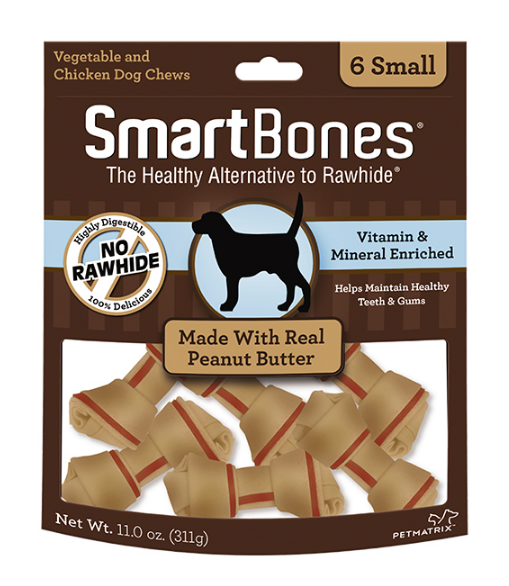 Peanut Butter Classic Bone Chews Dog Treats