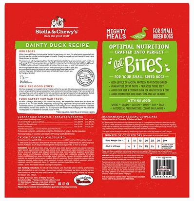Lil Bites Dainty Duck Recipe Freeze Dried Raw Dog Food