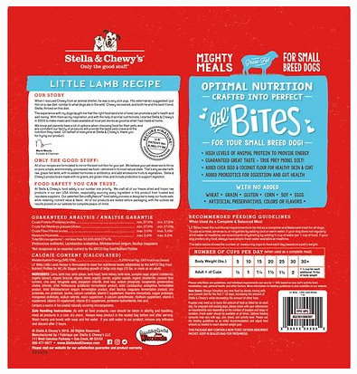 Lil Bites Little Lamb Recipe Freeze Dried Raw Dog Food