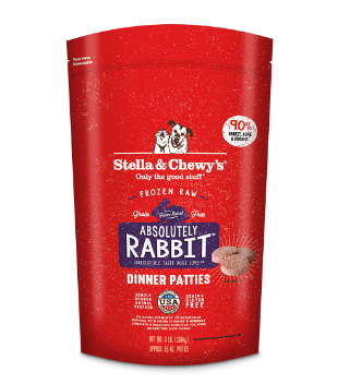 Absolutely Rabbit Dinner Patties Freeze-Dried Raw Dog Food