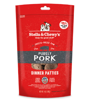 Purely Pork Dinner Patties Freeze-Dried Raw Dog Food