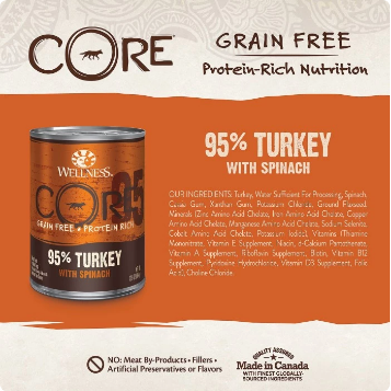 CORE 95% Turkey With Spinach Grain-Free Dog Food
