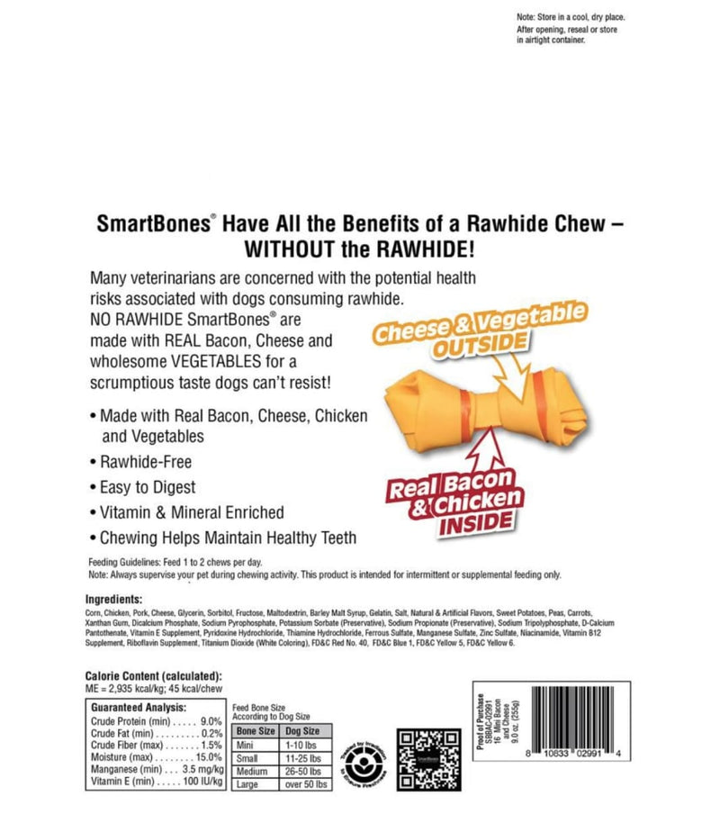 Bacon & Cheese Classic Bone Chews Dog Treats