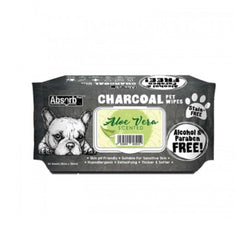 Charcoal Pet Wipes Aloe Vera Scented 80 sheets