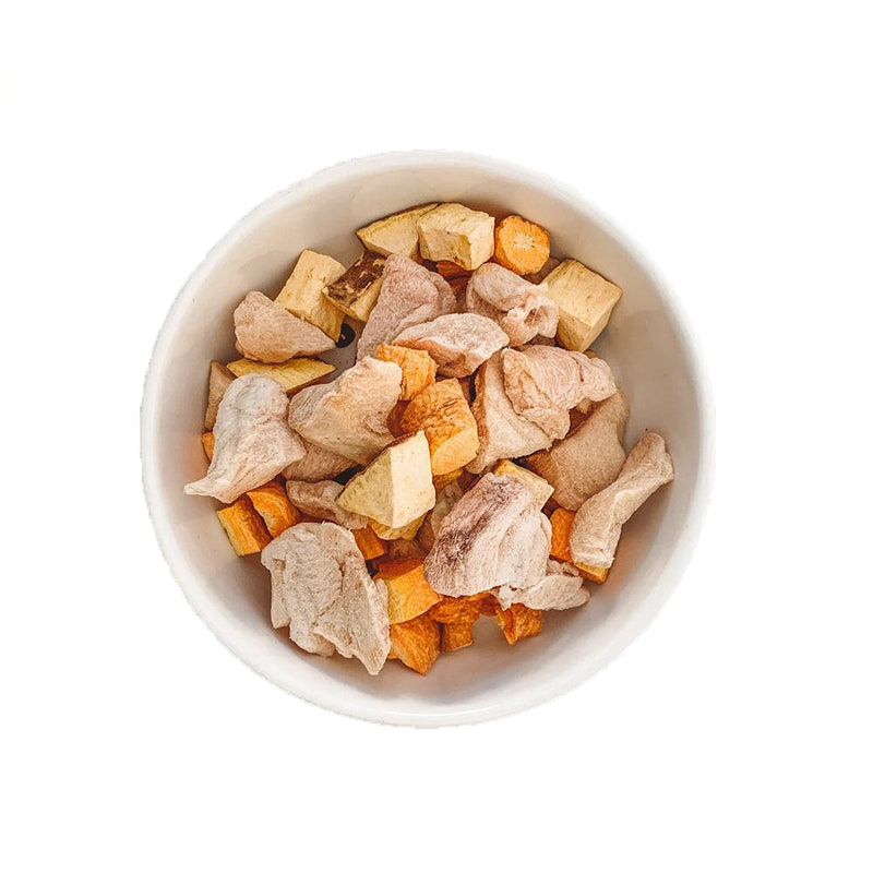 Chicken Cubes & Vegetables Mix Freeze-Dried Raw Dogs Treats