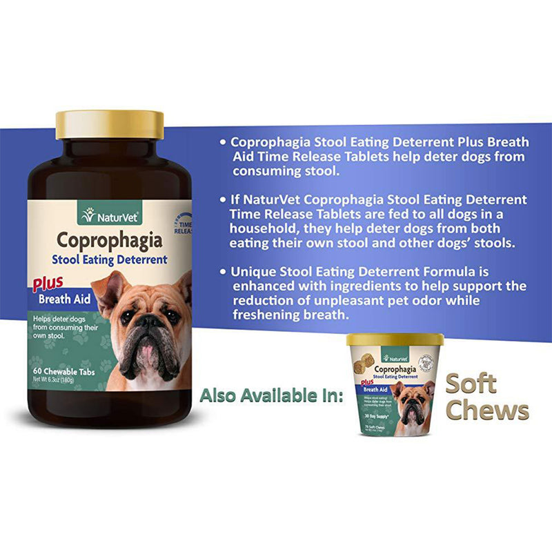 Coprophagia Deterrent Plus Breath Aid Tablets 60 Chew Tabs
