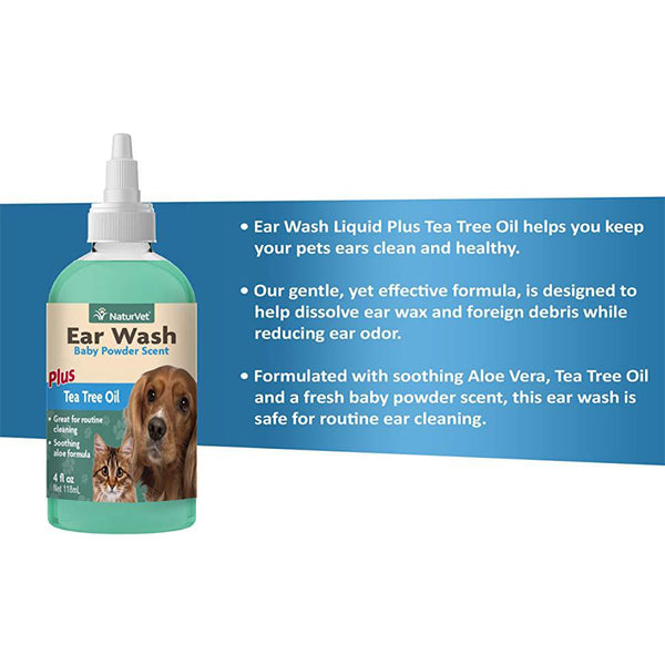 Ear Wash w/Tea Tree Oil (Aloe & Baby Powder Scented)