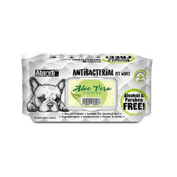 Antibacterial Pet Wipes Aloe Vera Scented 80 sheets