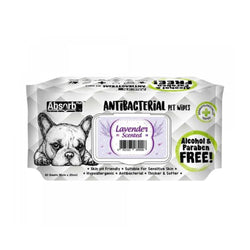 Antibacterial Pet Wipes Lavender Scented 80 sheets