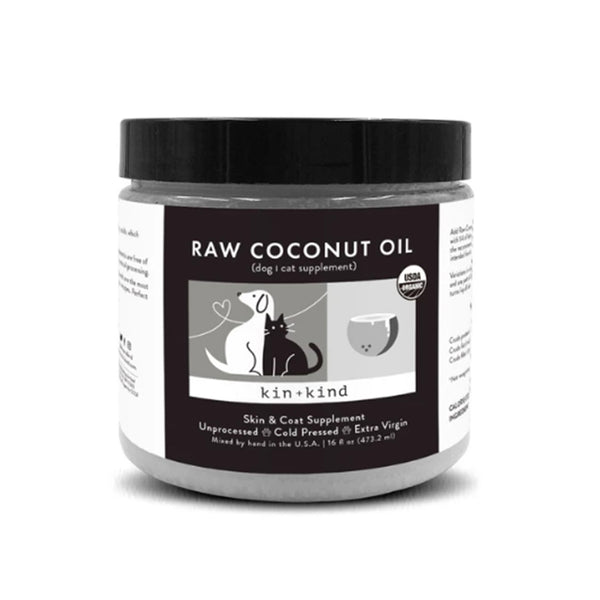 Raw Coconut Oil Skin And Coat Dog Cat Supplement