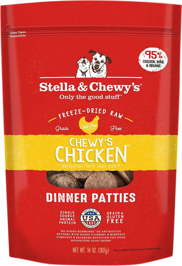 Chicken Dinner Patties Freeze-Dried Raw Dog Food