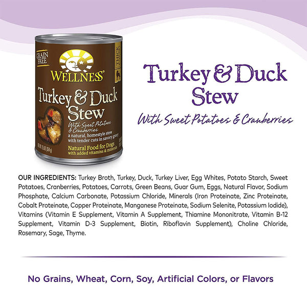 Complete Health Turkey & Duck Stew with Sweet Potatoes & Cranberries Wet Dog Food