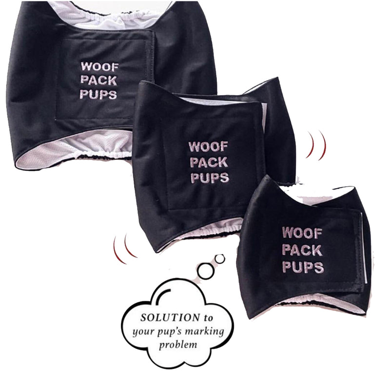 Reusable and Washable Diapers for Male Dog