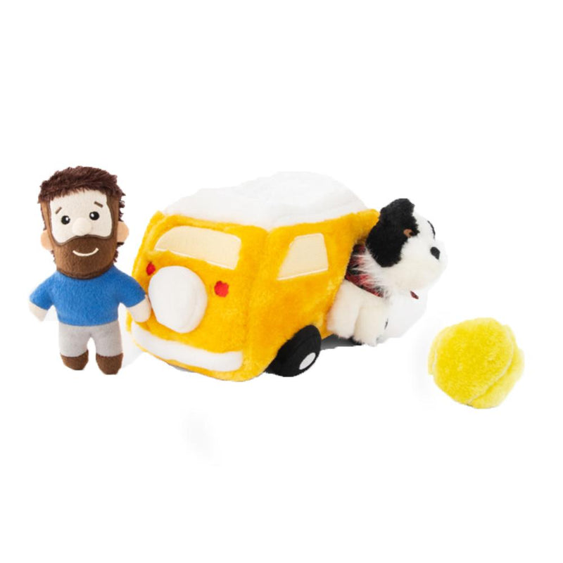 ZippyPaws Zippy Burrow - Momo And Andrew Interactive Puzzle Dog Toy