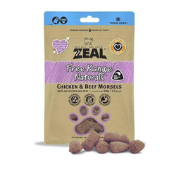 100% Natural Free Range Freeze-Dried Chicken & Beef Morsels Cat Treats