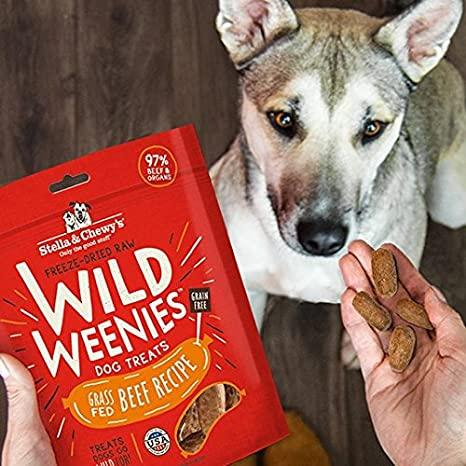 Stella & Chewy's Wild Weenies Grass Fed Beef Recipe Freeze-Dried Raw Dog Treats