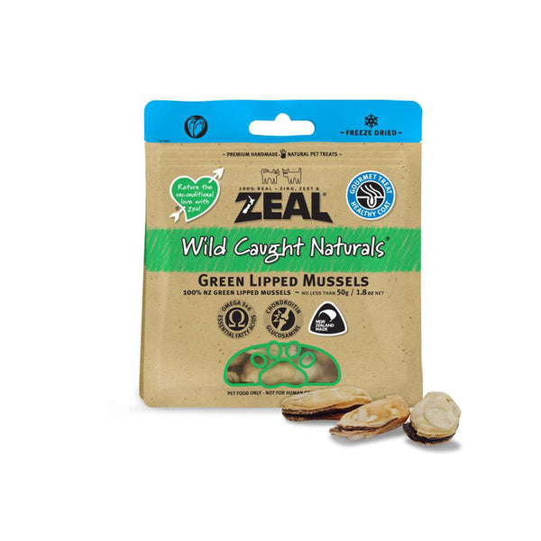 100% Natural Wild Caught Freeze-Dried Green Lipped Mussels Cat & Dog Treats