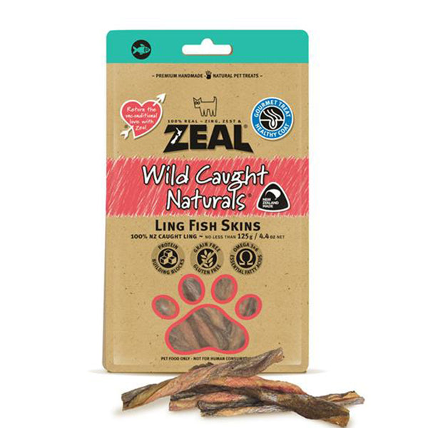 100% Natural Wild Caught Ling Fish Skins Dogs Treats