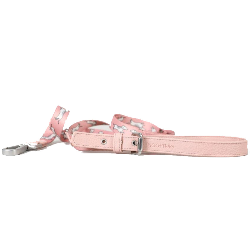 Vegan Leather Dog Leash - The Twiggy (Blush)