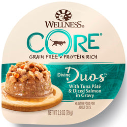 CORE Grain-Free Divine Duos With Tuna Paste & Diced Salmon  Wet Cat Food