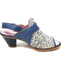 Maciejka Two Tone Heel Sandal - Denim - LilloBellaBoutique.com