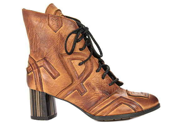 Maciejka Lettered Leather Ankle Boot - LilloBellaBoutique.com