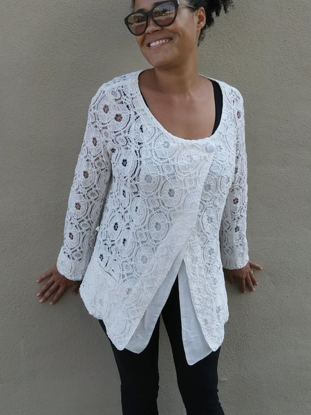 Cindy Lace Jacket - Off White - LilloBellaBoutique.com
