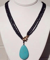 Merida's Crystal & Turquoise Necklace