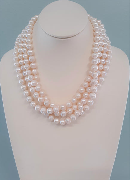 Agatha Multi Strand Freshwater Pearl Necklace