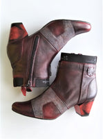 Maciejka Oxblood Zip Detail Ankle Boot - LilloBellaBoutique.com