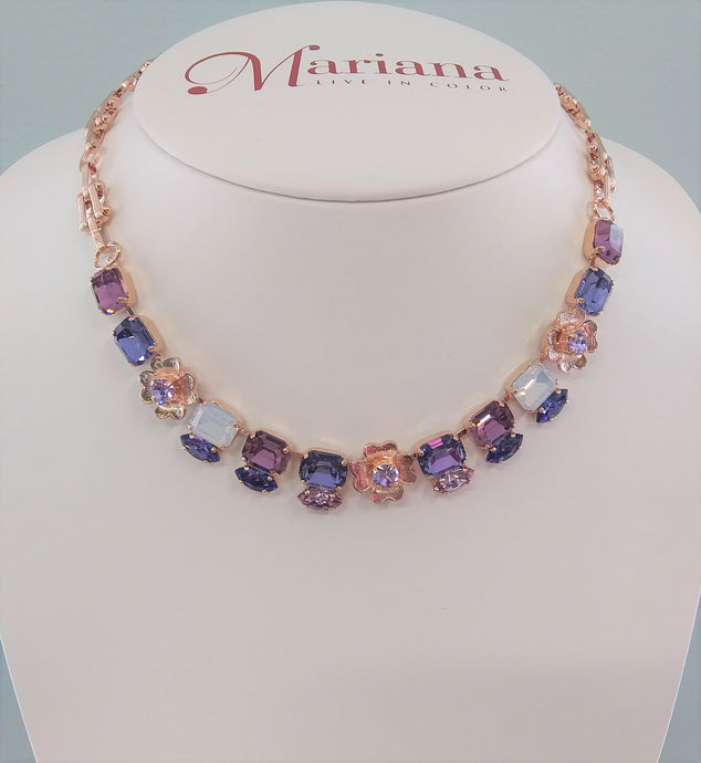 Mariana Jewelry Purple Rain Necklace 3099/2-M1062RG