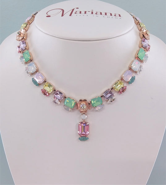 Mariana Jewelry Pina Colada Necklace 3099/1-1063RG - LilloBellaBoutique.com