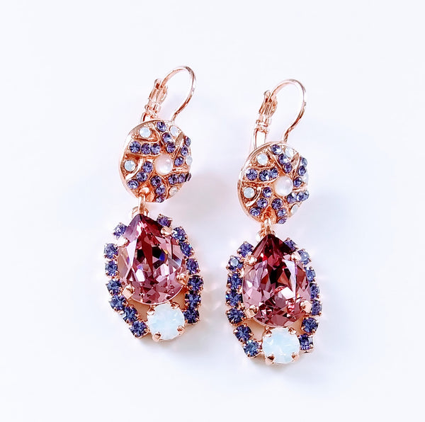 Mariana Jewelry Purple Rain Statement Earring 1259-1062RG