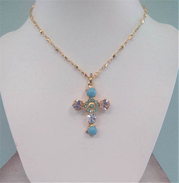 Mariana Cross Necklace N5127/2-1042YG - LilloBellaBoutique.com