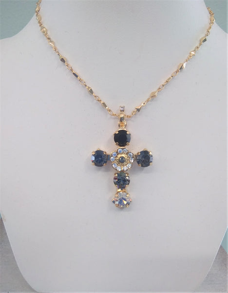 Mariana Cross Necklace N5127/2-1094YG - LilloBellaBoutique.com