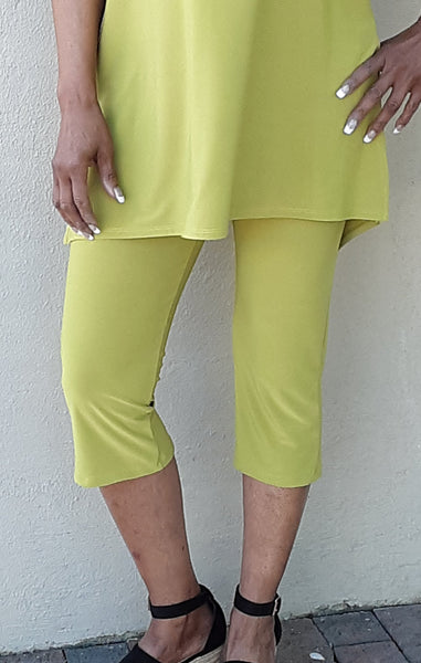Compli K Back Seamed Capri Pant - Apple - LilloBellaBoutique.com