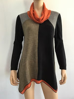 Radzoli Color Block Tunic Sweater - LilloBellaBoutique.com
