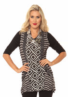 Textured Graphic Tunic Top
