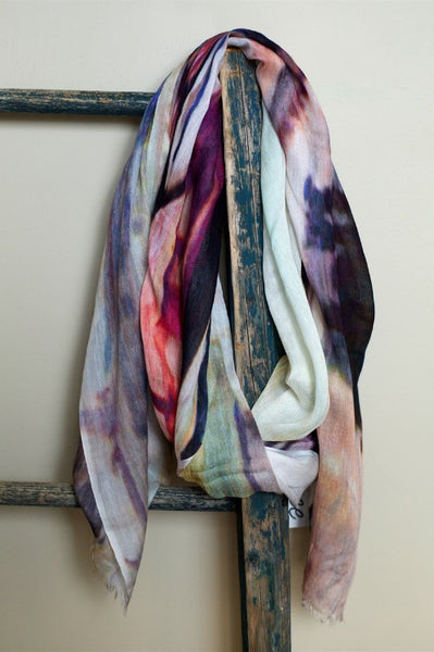 Modal & Cashmere Scarf - Abstract
