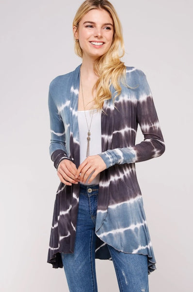 Cruising The Seas Tie Dye Cardigan - LilloBellaBoutique.com