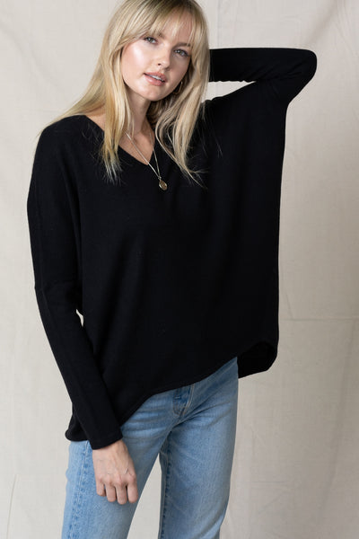 Facetime Pullover Sweater -Black - LilloBellaBoutique.com