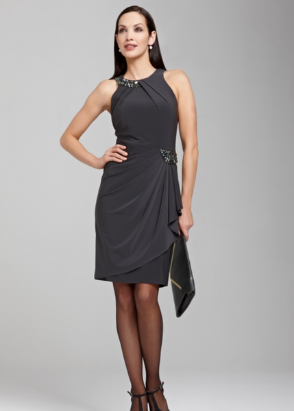 Nueva Jewel Dress Gray