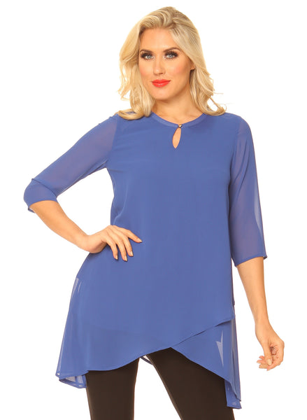 Alena Chiffon Tunic Top - LilloBellaBoutique.com