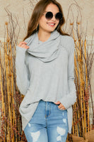 Danica Tunic Top - Heather Grey - LilloBellaBoutique.com