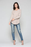 Sadie Cashmere Sweater - Tan/Nude - LilloBellaBoutique.com