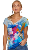 Claire Desjardins Wearable Art - Secret Heart Drape Neck Top - LilloBellaBoutique.com