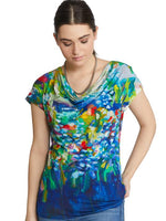 Claire Desjardins Wearable Art - Full Bloom Drape Neck Top