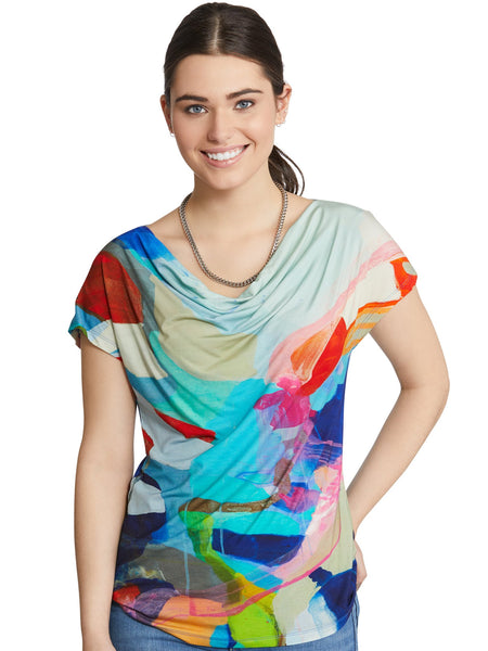 Claire Desjardins Wearable Art - Take Me to California Drape Neck Top - LilloBellaBoutique.com