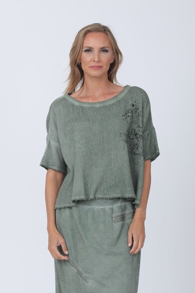 Beau Jours Phillicia Top - Cactus - LilloBellaBoutique.com